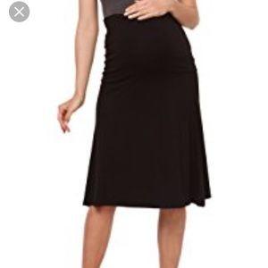 Old Navy maternity a-line black skirt NWOT